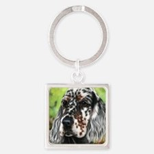 English Setter pup by Dawn Secord Keychains