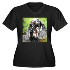 English Setter pup by Dawn Secord Plus Size T-Shir