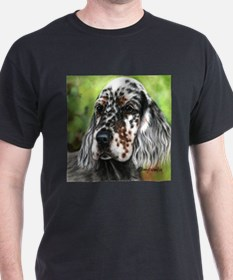 English Setter pup by Dawn Secord T-Shirt