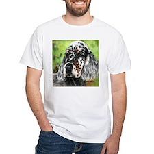 English Setter pup by Dawn Secord T-Shirt