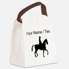 Custom Equestrian Horse Silhouette Canvas Lunch Ba