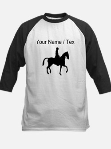 Custom Equestrian Horse Silhouette Baseball Jersey