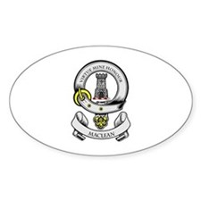 MACLEAN Coat of Arms Oval Decal