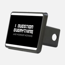question everything worshi Hitch Cover