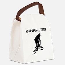 Custom BMX Biker Silhouette Canvas Lunch Bag