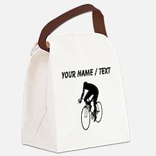 Custom Cyclist Silhouette Canvas Lunch Bag
