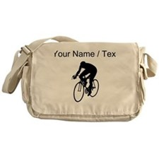 Custom Cyclist Silhouette Messenger Bag