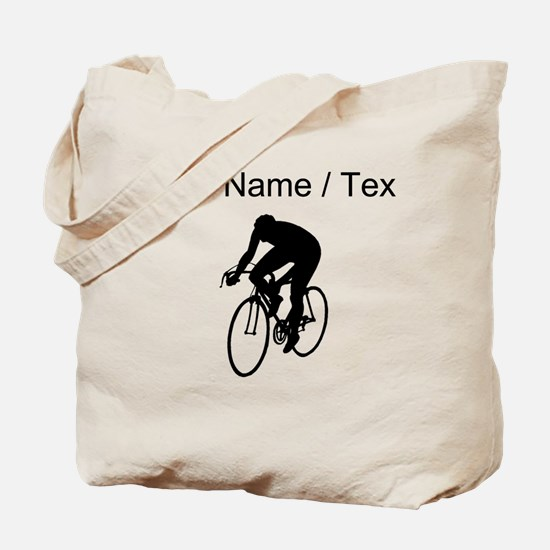 Custom Cyclist Silhouette Tote Bag