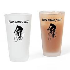 Custom Cyclist Silhouette Drinking Glass