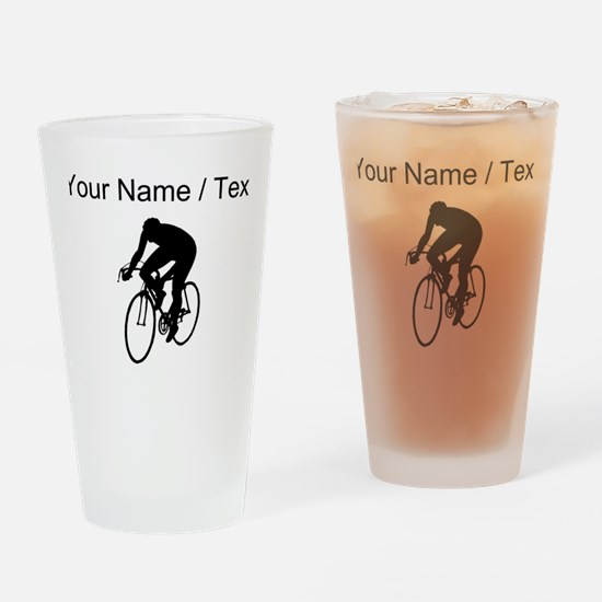 Custom Cyclist Silhouette Drinking Glass