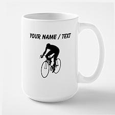 Custom Cyclist Silhouette Mugs