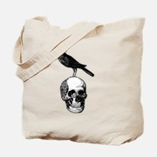 Skull and Raven Tote Bag