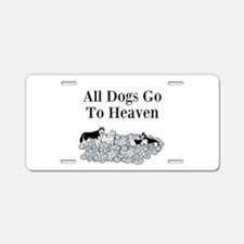 All Dogs Go to Heaven Aluminum License Plate