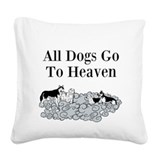 Beagle dog pillow Square Canvas Pillows