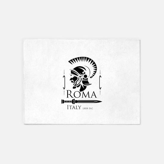 Roman Centurion with gladio 5'x7'Area Rug