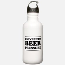 I give into Beer Pressure Water Bottle