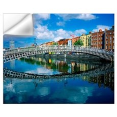 Ha'penny Bridge, River Liffey, Dublin, Ireland Wall Decal