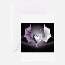 dragon love Greeting Cards