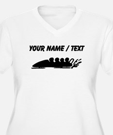 Custom Bobsledding Plus Size T-Shirt