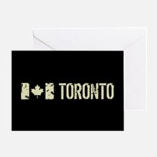 Canadian Flag: Toronto Greeting Card