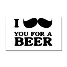 I mustache you for a beer Rectangle Car Magnet