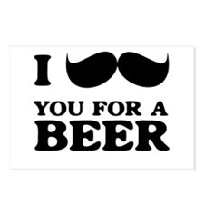 I mustache you for a beer Postcards (Package of 8)