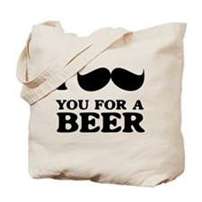 I mustache you for a beer Tote Bag