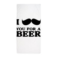 I mustache you for a beer Beach Towel
