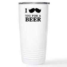 I mustache you for a beer Travel Mug