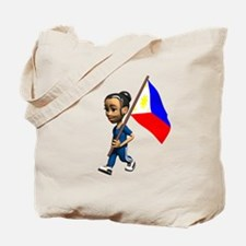 Philippines Girl Tote Bag