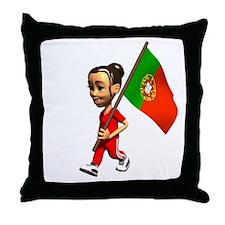 Portugal Girl Throw Pillow