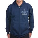 Long island hoodie Zip Hoodie (dark)