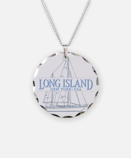 Long Island - Necklace Circle Charm