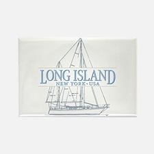 Long Island - Rectangle Magnet