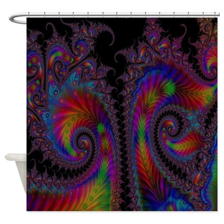 Peacock fantasy shower curtain by moondancerscreations for Fantasy shower curtains