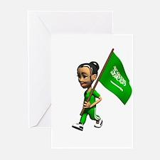 Saudi Arabia Girl Greeting Cards (Pk of 10)