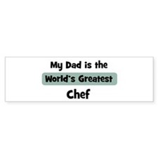 Worlds Greatest Chef Bumper Bumper Sticker