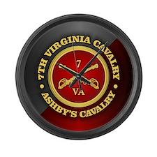 CSC-7th Virginia Cavalry Large Wall Clock