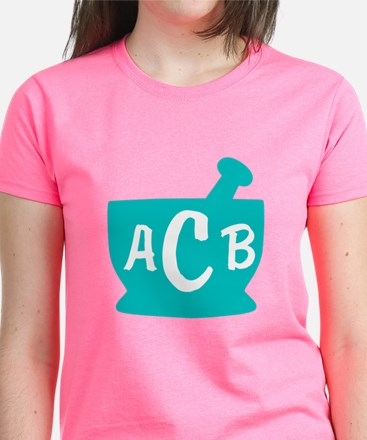 Teal Monogram Mortar and Pest Tee