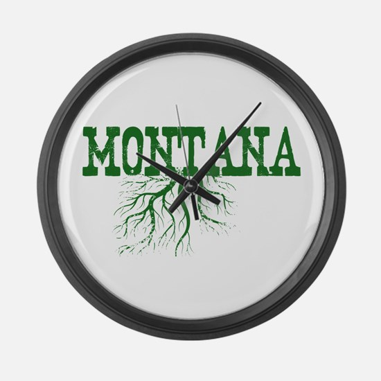 Montana Roots Large Wall Clock