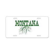 Montana Roots Aluminum License Plate