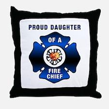Fire Chiefs Daughter Throw Pillow