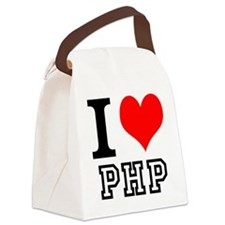 IHeartPHP Canvas Lunch Bag