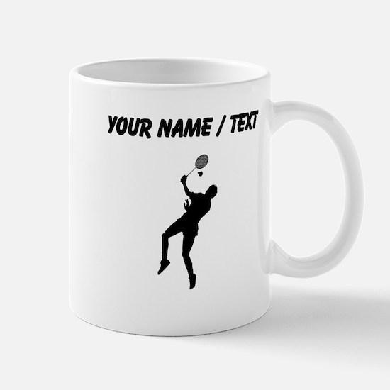 Custom Badminton Player Silhouette Mugs