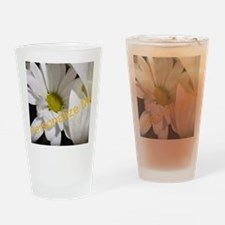 Personalized Daisy Drinking Glass