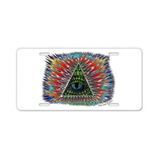 All Seeing Reptilian Eye Aluminum License Plate