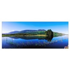 Clonee Loughs, Co Kerry, Ireland, Lake With Land I Poster