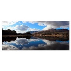 Clouds Reflected In A Lake In Killarney National P Poster