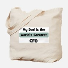 Worlds Greatest CFO Tote Bag