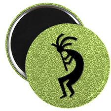 Green Kokopelli Magnet